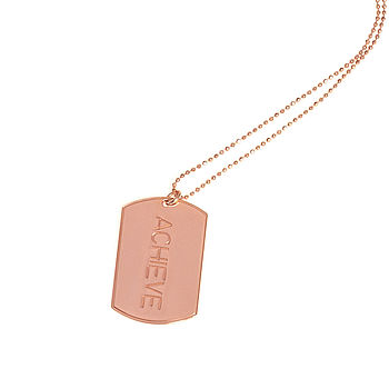 Achieve Inspirational Luxury Tag Necklace