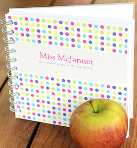 Personalised Teacher Notebook - gifts for teachers