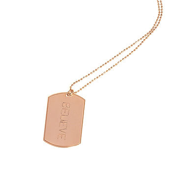 Believe Inspirational Luxury Tag Necklace