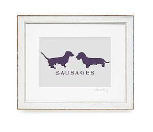 'Sausages' Print - prints under £25