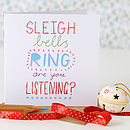 Sleigh Bells Ring Christmas Card