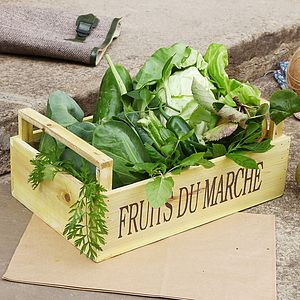 Grow Your Own Garden Fruits Crate - boxes, trunks & crates