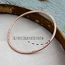 Example of rose gold plating