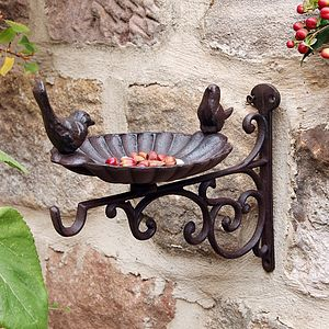 Cast Iron Wall Mounted Bird Bath - birds & wildlife