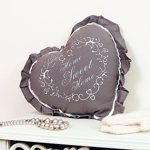 'Home Sweet Home' Heart Cushion - cushions