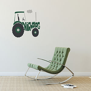 Personalised Tractor Wall Sticker - home decorating