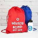 Personalised Block Print Children's Kit Bag