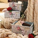 Set Of Three Fleurs De Jardin Wooden Crates