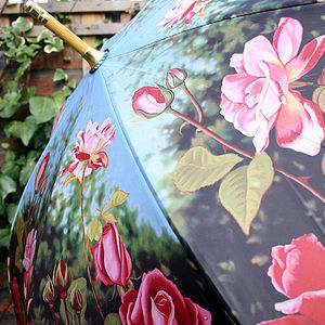 Antique Rose Umbrella - umbrellas & parasols