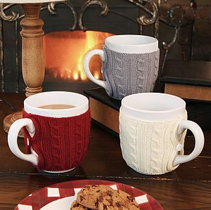 Cosy Cardigan Mug - stocking fillers under £15