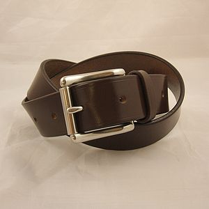10 Handmade Personalised English Leather Belts - personalised