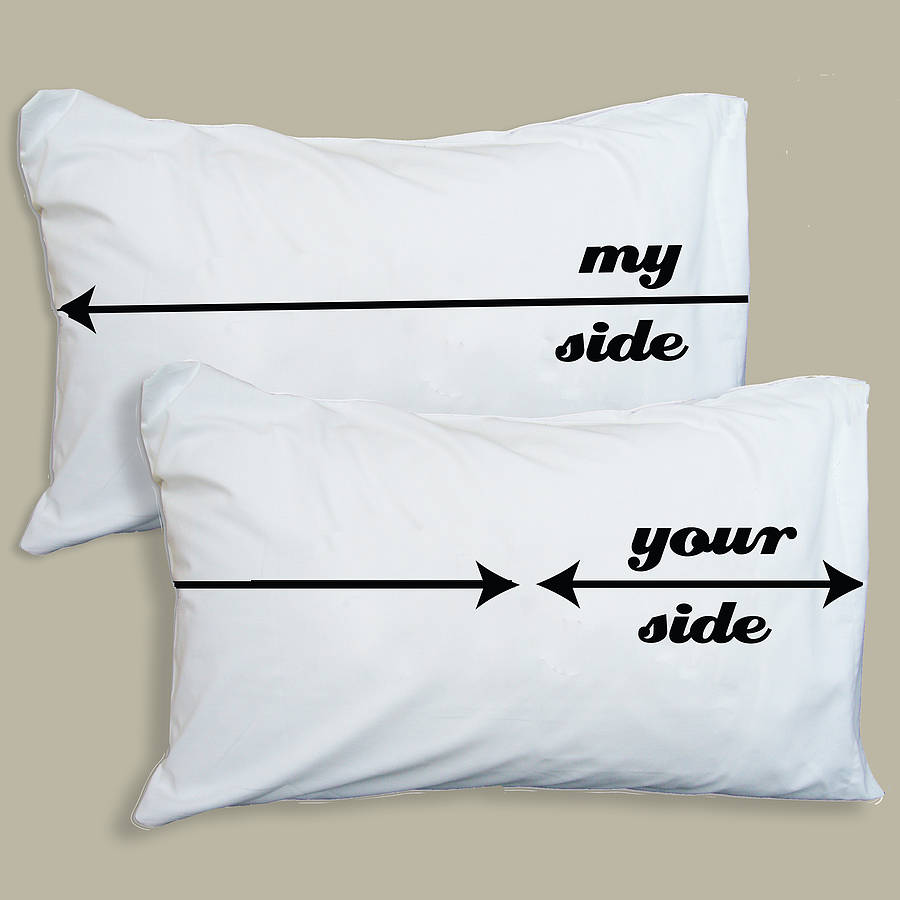 lettered cases pillows overlay painted yours text diy white pillow thistle lemon and his mine tmine reads hers covers on