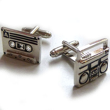 Casette And Stereo Retro Cufflinks