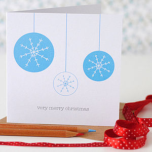 Snowflake Bauble Christmas Card - shop by category