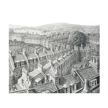 Buildings Of Bath Print