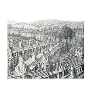 Buildings Of Bath Print - contemporary art