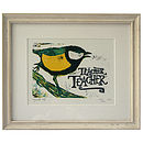 Bird Song One, Framed Lino Cut
