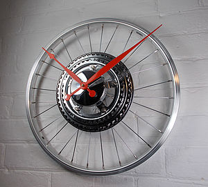 Bike Sprocket Wheel Clock Small - office & study