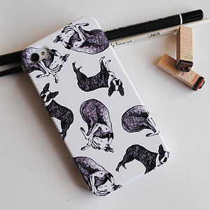 Lurcher And Boston Terrier Phone Case