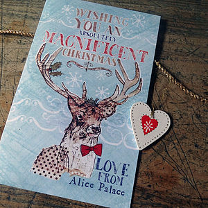 Personalised Magnificent Christmas Card Pack - seasonal cards