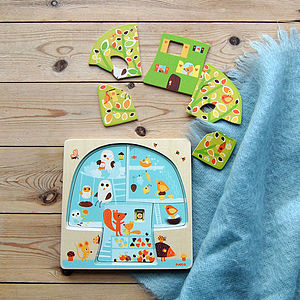 Wooden Three Layer Puzzles For Toddlers