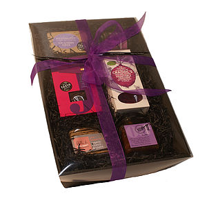 Purple Tinsel Hamper