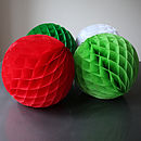 Four Large Christmas Paper Tissue Balls 30cm