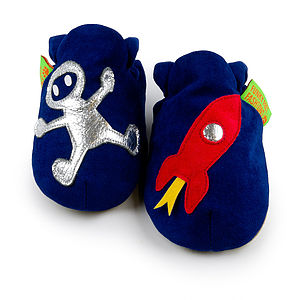 Rocket Boy Soft Baby Shoes - children's slippers