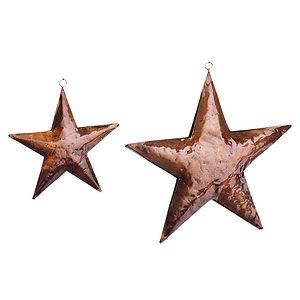 Glossy Copper Star For Hanging - garlands & bunting