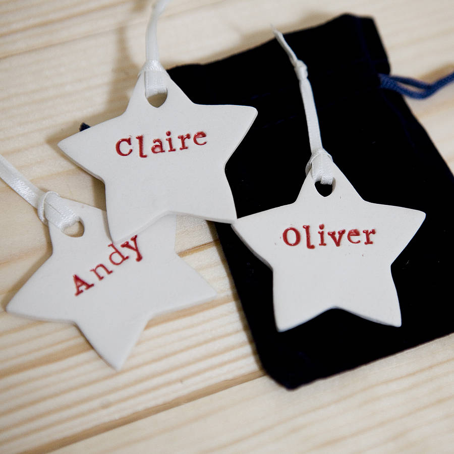 Merveilleux Personalised Christmas Tree Decorations