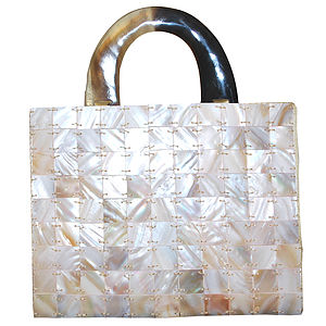 Mother Of Pearl Evening Bag - bags & purses