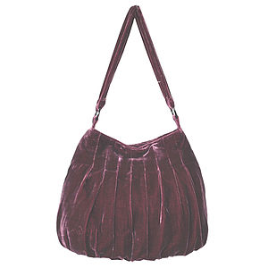 Large Velvet Slouchy Bag