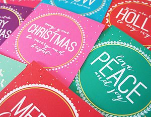 Pick Your Own Pack Of 12 Christmas Cards