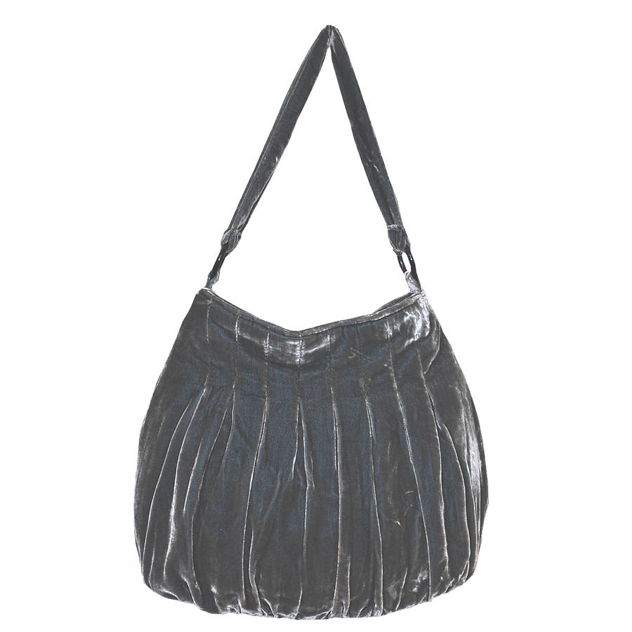 large velvet slouchy bag by bags not war | notonthehighstreet.com
