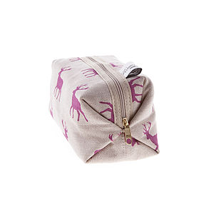 Pink Stag Box Bag - wash & toiletry bags