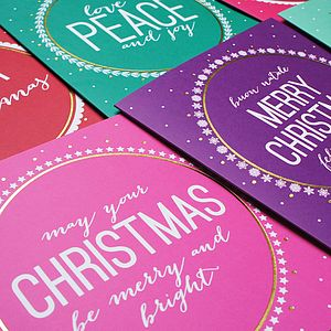 Assorted Pack Of Six Christmas Cards - cards