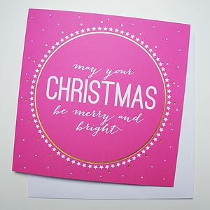 'Merry And Bright' Christmas Card - cards & wrap