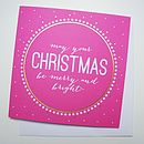 'Merry And Bright' Christmas Card