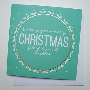 'Love And Laughter' Christmas Card - christmas cards