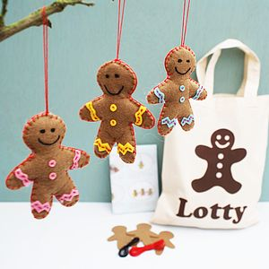 Personalised Gingerbread Men Craft Kit - tree decorations