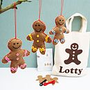 Personalised Gingerbread Men Craft Kit