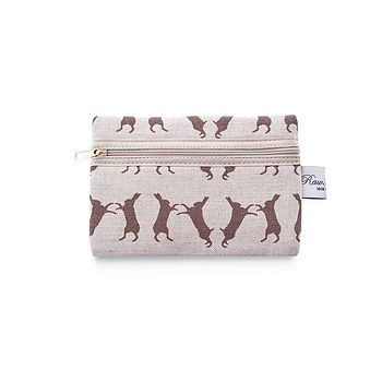 Boxing Hare Zip Purse