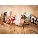 Graphic Leather Bracelet