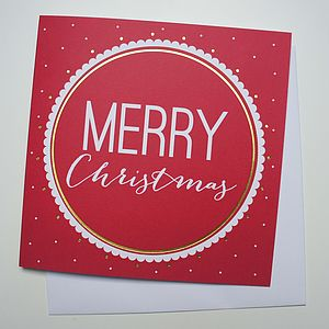'Merry Christmas' Card - cards & wrap