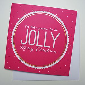 'Jolly' Christmas Card - christmas cards