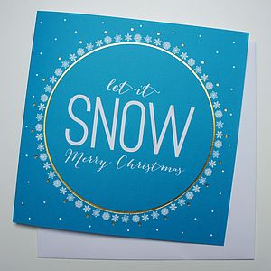 'Let It Snow' Christmas Card - seasonal cards