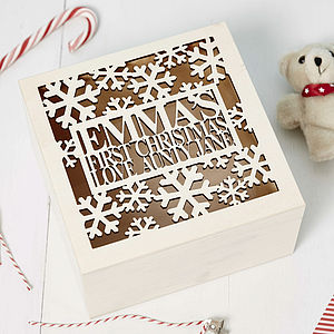 Personalised Babys First Christmas Keepsake - keepsake boxes