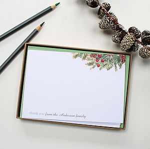 Personalised Christmas Notecards Set - cards