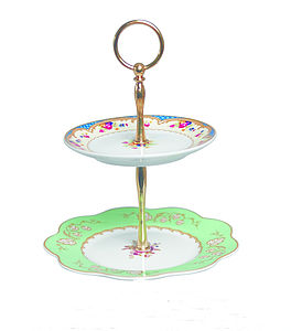 Vintage Style Two Tier Cake Stand - cake stands