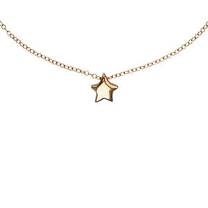 One In A Million Star Necklace In Gold - necklaces & pendants